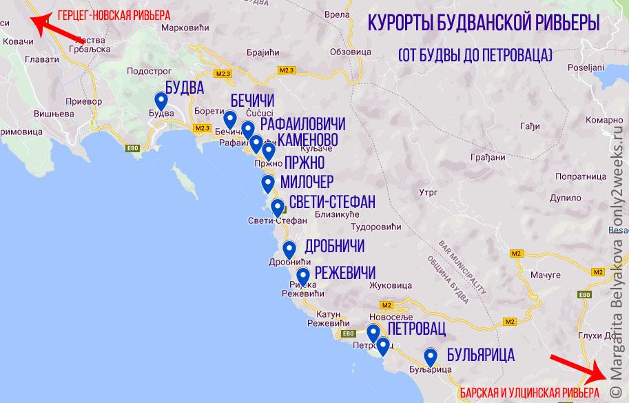 karta-budvanskoy-rivyery-chernogoriya
