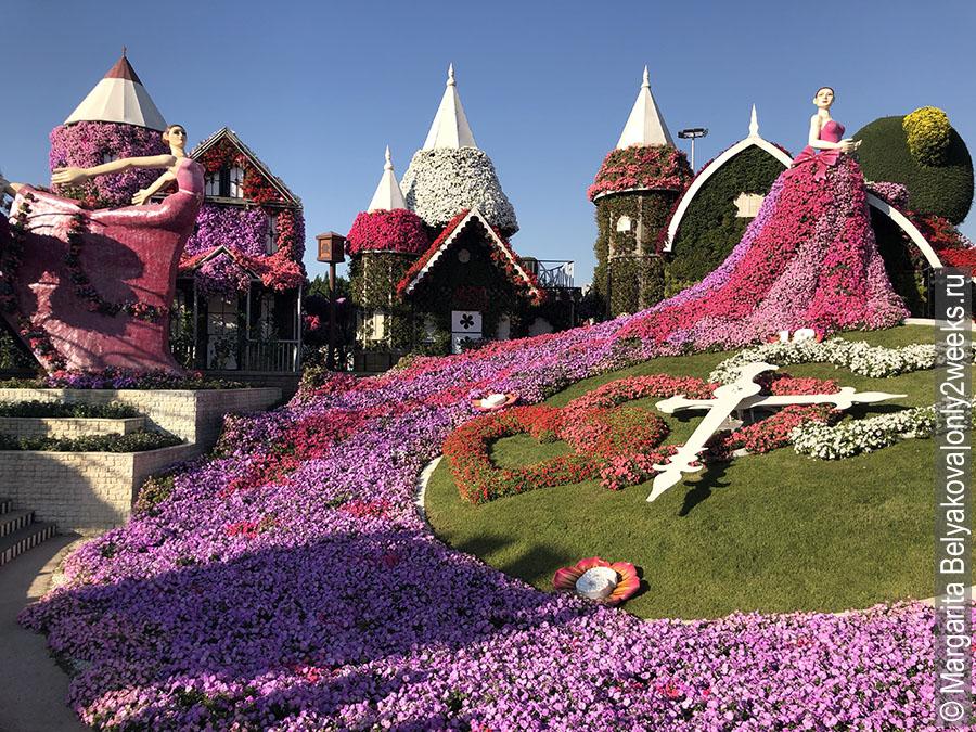 Floral-clock-dubai-miracle-garden